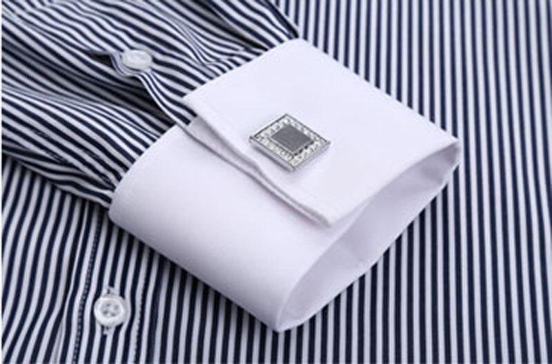Męskie Slim Fit francuskie spinki do mankietów koszula Non  oYgk8