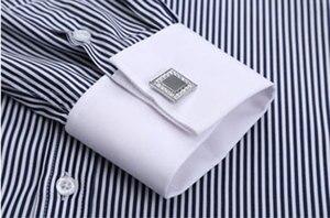 Image 5 - גברים של Slim Fit צרפתית חפתים חולצה ללא ברזל ארוך שרוול כותנה זכר טוקסידו חולצת פורמליות חולצות גברים עם צרפתית חפתים
