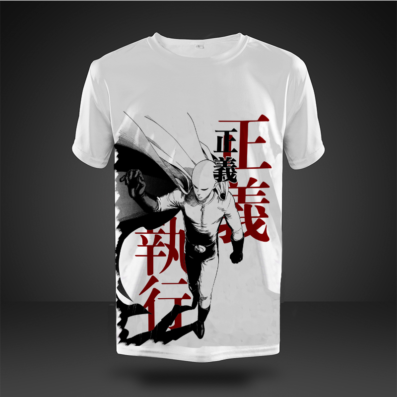 New Arrive Men Summer Short Sleeve t shirts Anime One Punche Man t shirts  Cartoon t shirt tees