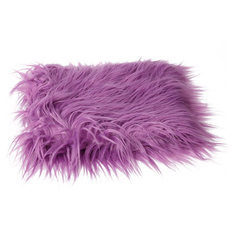 Baby Newborn Faux Fur Photography Photo Props Blanket Basket Stuffer Rug Beanbag Background Backdrop Purple