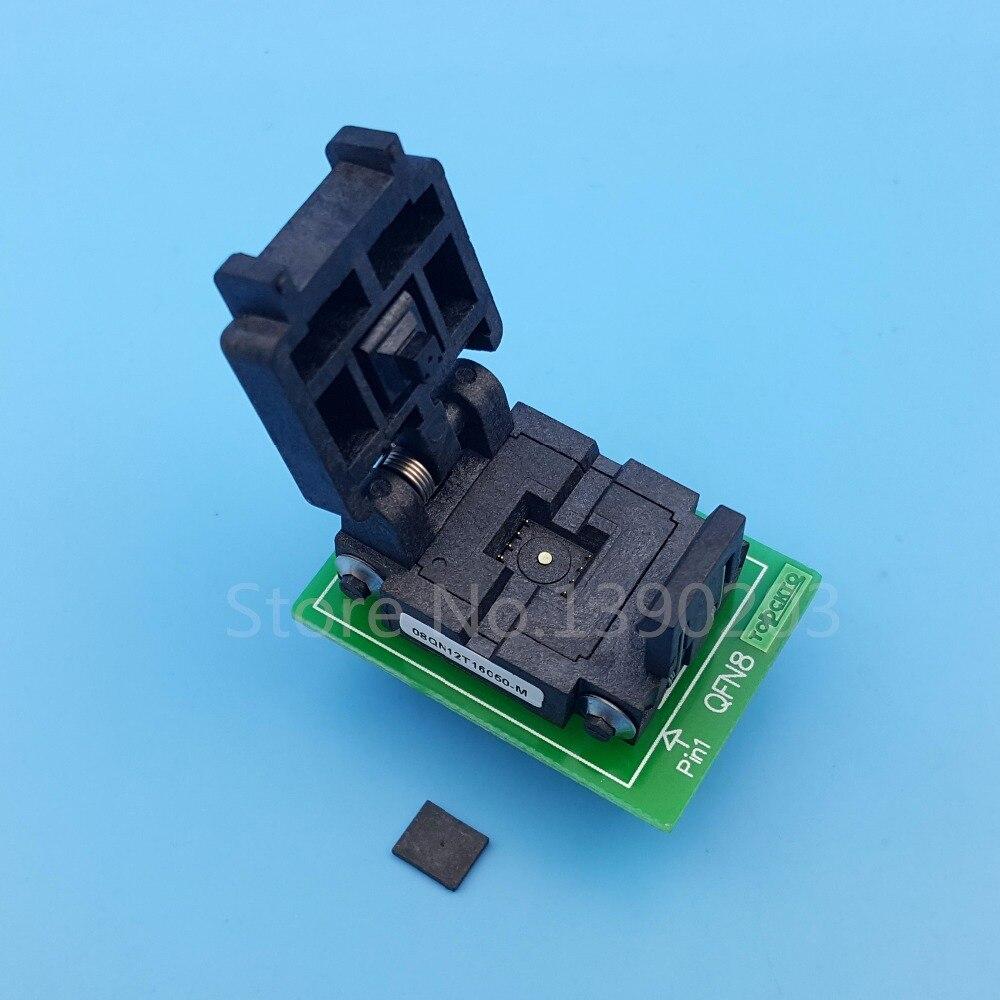 QFN8 MLF8 MLP8 à DIP8 (A) pas 1.27mm 6x5mm IC programmeur adaptateur prise de Test