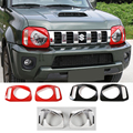 SHINEKA  ABS Angry Eyes Front Head Light Lamp Cover Guards Protective Sticker for Suzuki Jimny 2007+ Car Styling|frames chrome|frame protection|suzuki jimny chrome -