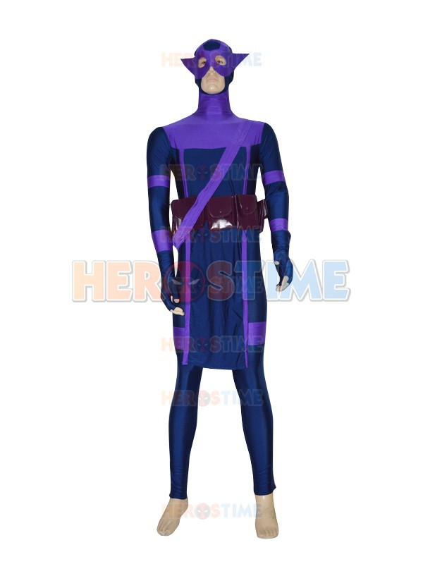 Più nuovo The Avengers Nuovo Hawkeye Superhero Costume spandex adulto halloween cosplay fullbody zentai per adulti/custom made