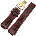 Watchband High quality Leather Brand Watchbands 3 Colors Stainless Steel Folding Clasp Durable 20cm Watch Strap For AP