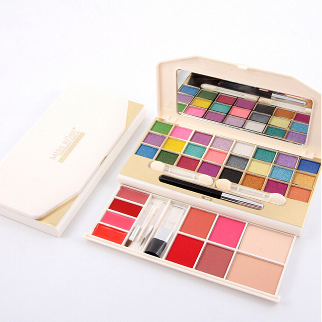 New Professional Makeup Set Pro 24 Full Natural Color Eyeshadow 4 Blusher 4 Lipgloss 2 Concealers Palette Eye Shadow Cosmetics