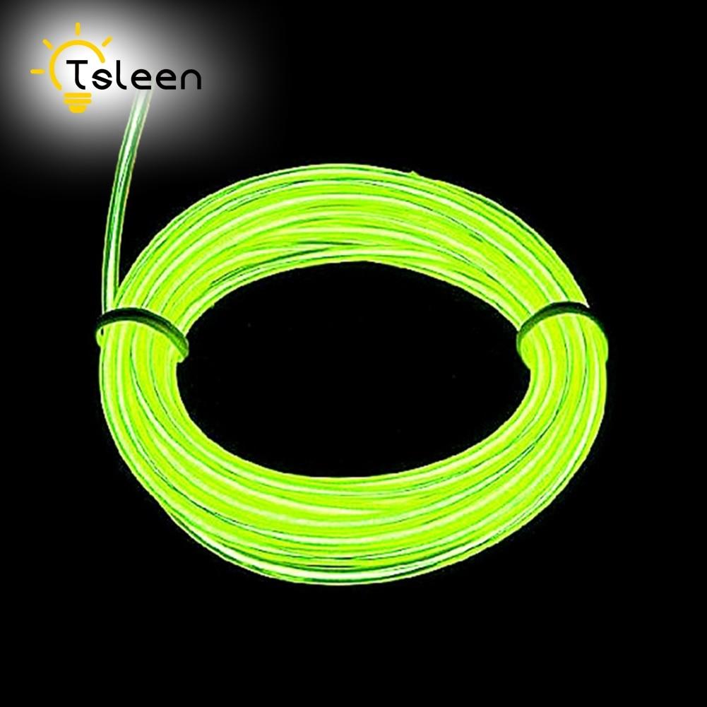 TSLEEN 2M 3M 5M Elastyczny przewód EL LED Neon Tube Glow Strobing - Oświetlenie LED - Zdjęcie 3