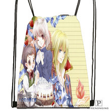 Custom  chrisp_howls_moving_castle Drawstring BackpackBagforManWomanCute Daypack Kids Satchel (Black Back) 31x40cm#180611-03-136