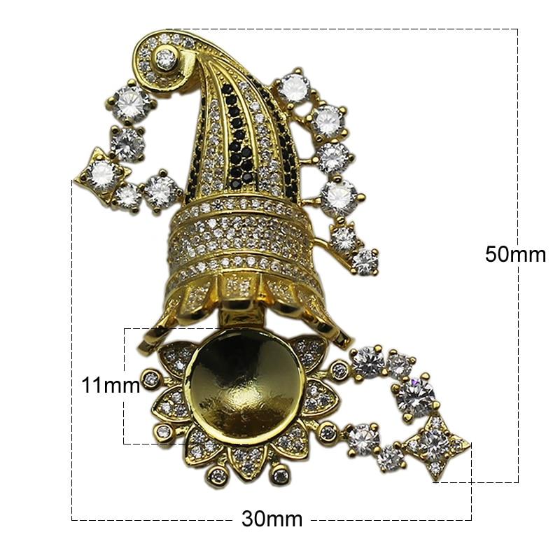 Beadsnice 925 collier en argent Sterling fermoir réglage CZ Pave grande boîte fermoir bijoux résultats fournitures bricolage cadeau ID35288 - 6