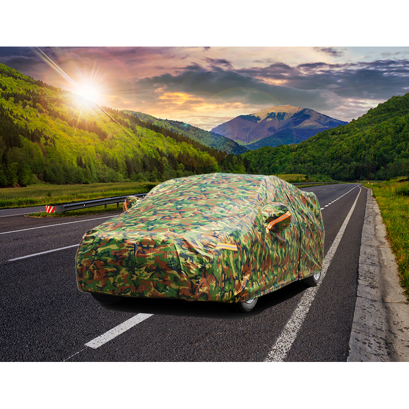 Kayme imperméable camouflage bâches de voiture extérieur protection solaire couverture pour voiture réflecteur poussière pluie neige protection suv berline pleine - 6