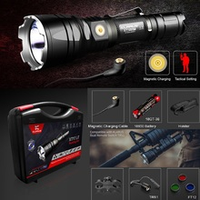1 Set KLARUS XT12GT 1600 Lumens LED Flashlight CREE XM-L2-U2 4 Mode Durable Waterproof Tactical Flashlight with18650 Battery стоимость