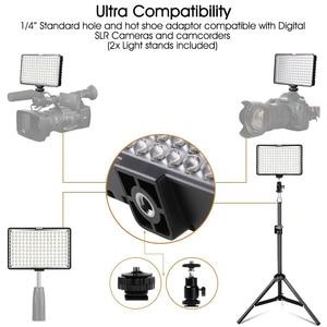 Image 3 - ספאש TL 160S 2 סטים LED וידאו אור 3200K/5600K CRI85 תאורת צילום סטודיו תמונה מנורת פנל LED אורות עבור וידאו לירות