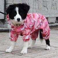 Камуфляж маленький средний большой собака плащ водостойкий ПЭТ комбинезон одежда Одежда для Тедди Пудель Чихуахуа