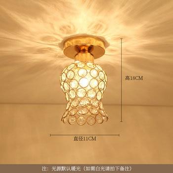 Artpad Modern LED Crystal Ceiling Light for Entrance Corridor Balcony Aisle Decor Surface Mount Square Round Gold Ceiling Lamp 18