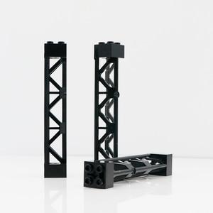 Piezas técnicas, bloques de construcción con agujero transversal de Pilar, soporte de poste de alambre, barra de ladrillos MOC, juguetes de construcción compatibles con Technic 95347