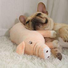 Plush Pig Stuffed Soft Comfortable Sleeping Partner Pets Toys Dog Cat Kitten Puppy Gifts Cute Pillow Accompany Sleep Piggy Toy