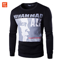 2016 Men's Spring and Autumn long-sleeved Sweatshirts letters printed cotton brand clothing casual male hoody  Muhammad Ali