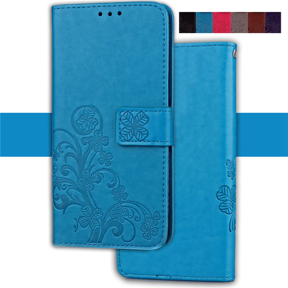 Misolocat For iPhone 7 Case for iPhone 7 Plus Magnet Flip Cover Stand Wallet PU Leather Funda Capa Four-leaf Clover Coque+ Strap