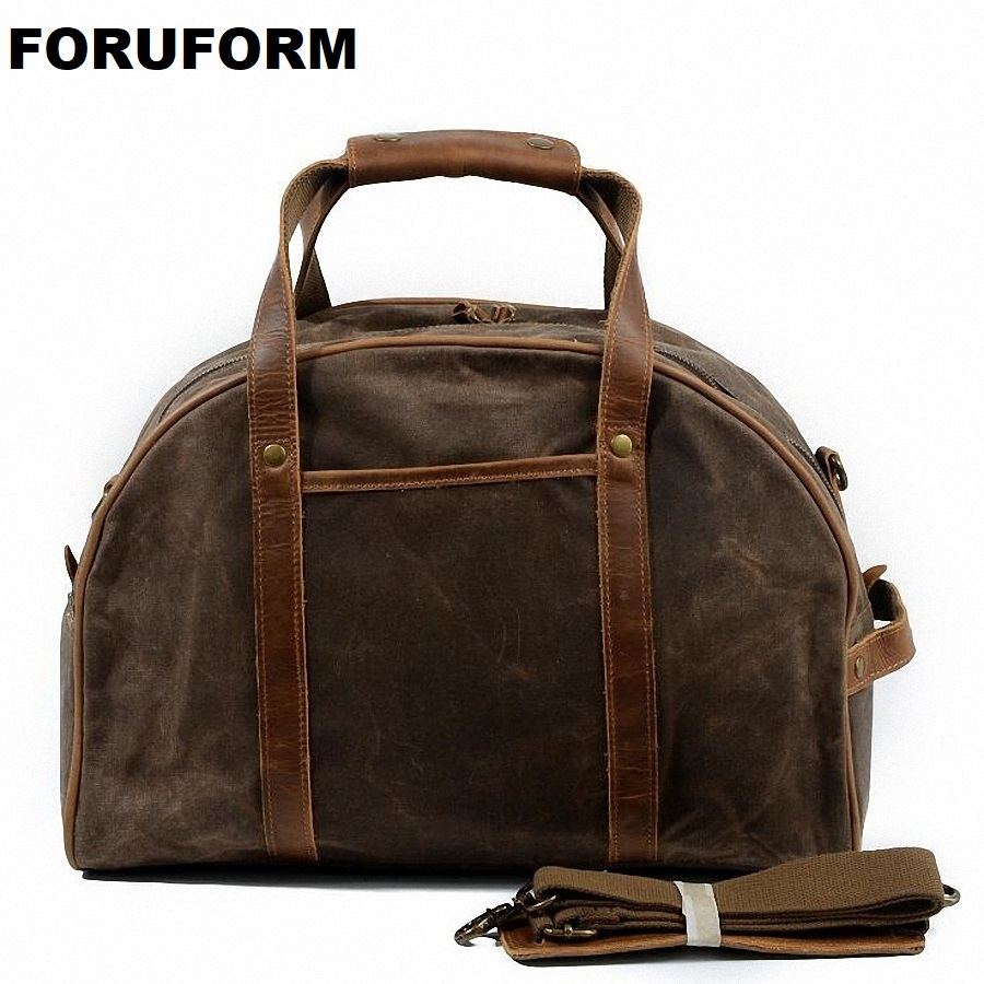 Waterproof Canvas Travel Bag Large Men Hand Luggage Travel Duffle Bags Weekend Bags Multifunctional Overnight Travel Bag LI-1985