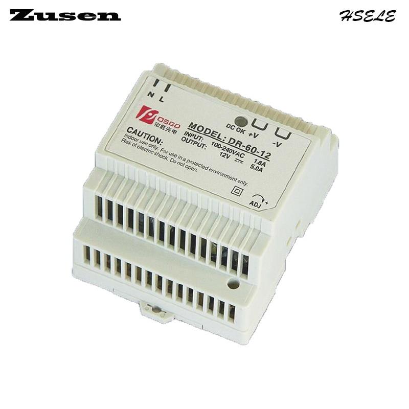 Zusen DR-60W-12V 5A Din Rail Switching Power supply