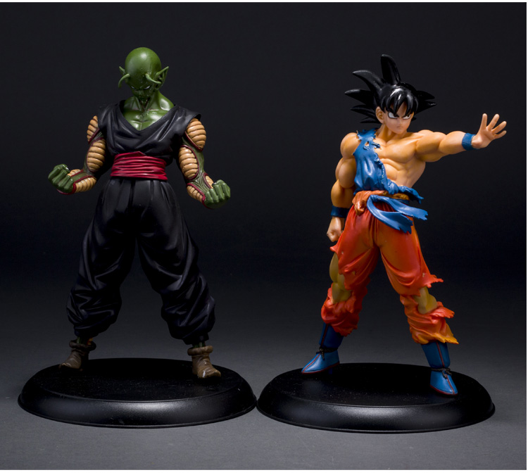 2pcs/lot Japanese classic anime 22cm figure Dragon Ball Z Action Figures Goku Piccolo Super Saiyan and Demon King PVC toys boys фигурка planet of the apes action figure classic gorilla soldier 2 pack 18 см
