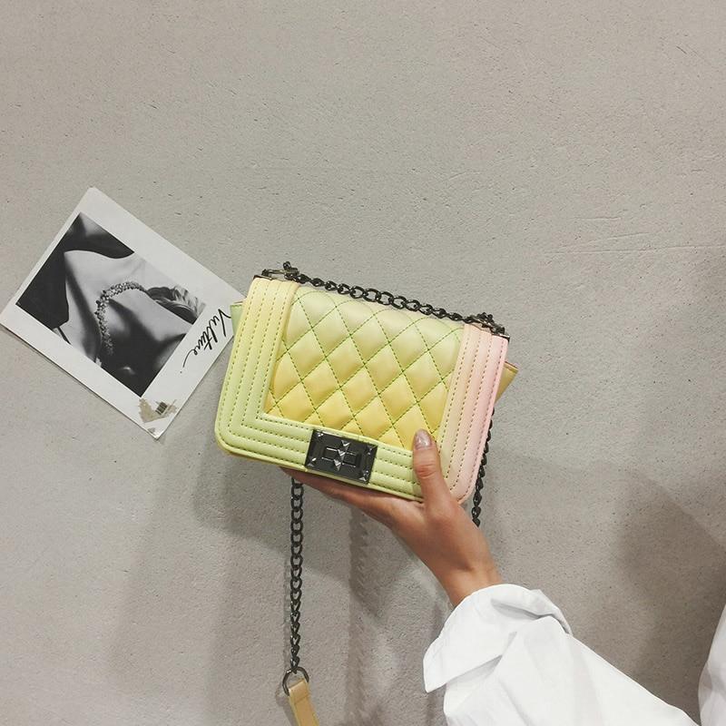 Le Piccolo Bolsa pink Di Da yellow black Dell'unità white Elaborazione silver Borsa Catena Cuoio Borse Messenger Crossbody Donna Lusso green Donne Per Progettista Feminina Petal Pink 2 YaqnOvSxw