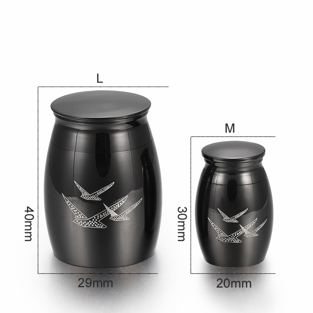 Going Home Memorial Keepsake Urn with Fancy Box - Wings of Freedom Keepsake Urn - Mini Urn for Ashes