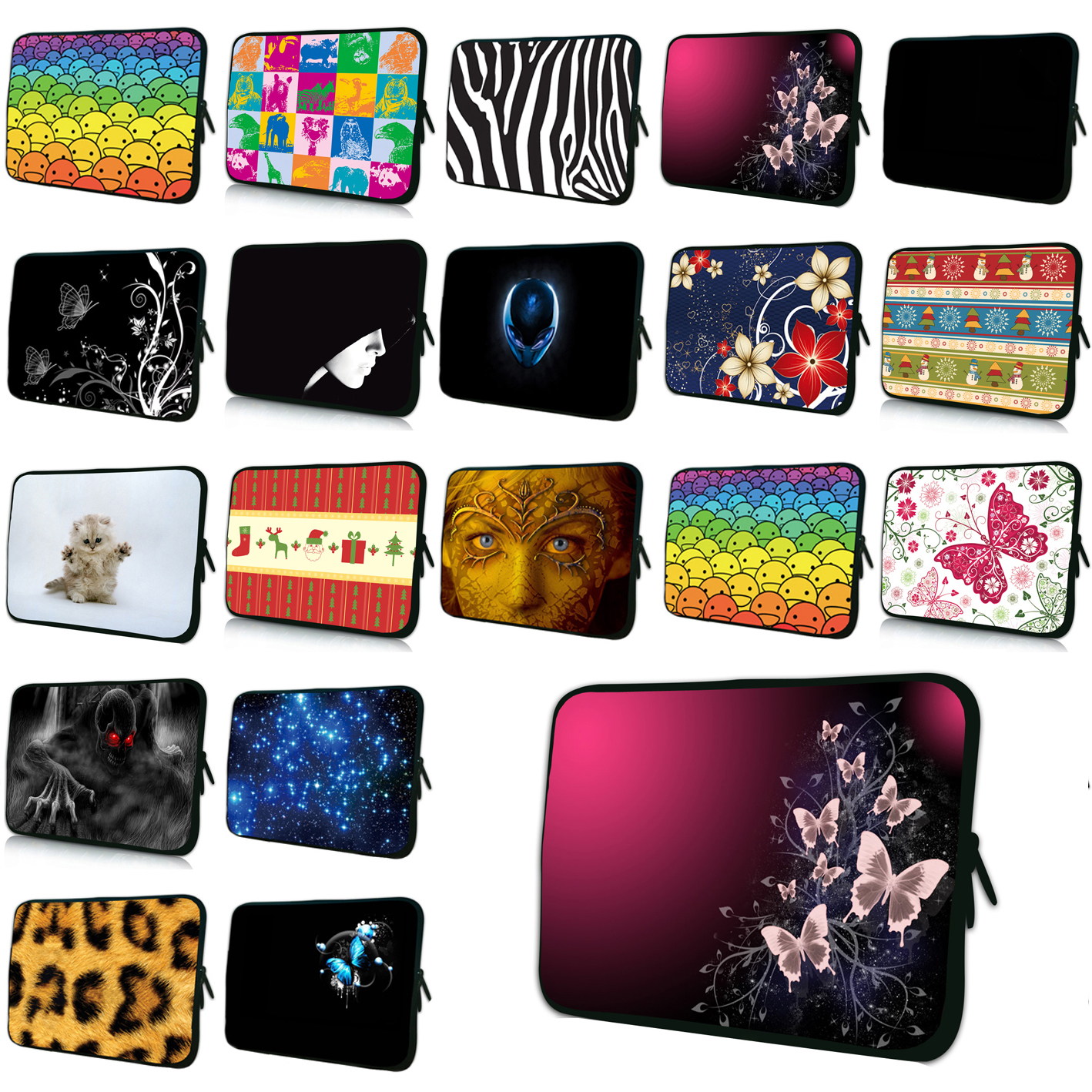 9.7 Mini PC Netbook Inner Case Women Bags 10 Tablet 10.1 11.6 12.1 13.3 15.4 15.6 17 Netbook Shell Slim Briefcase For Macbook