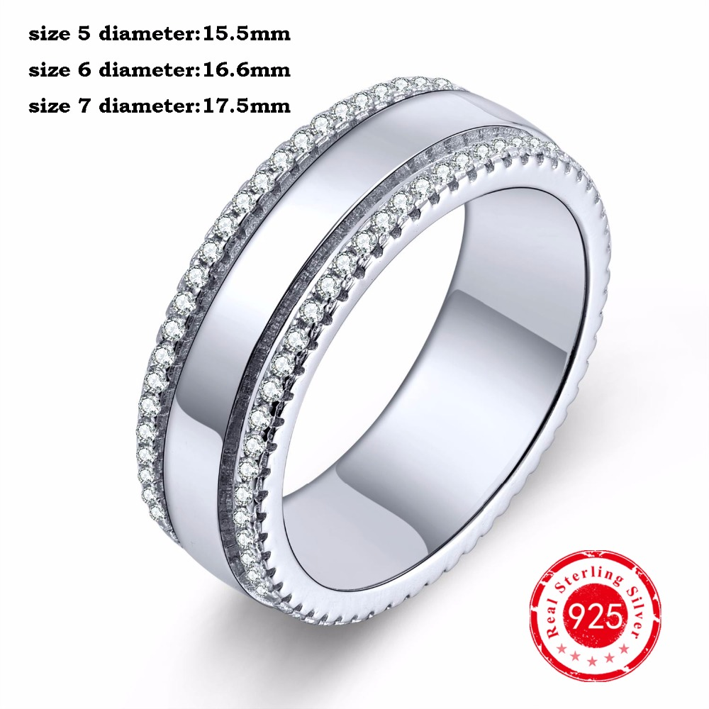 2016 Trendy CZ Diamond Luxury Real 925 Sterling Silver Wholesale Ring for Women Jewelry Wedding Engagement Finger Ring DL43910A
