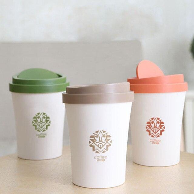 Small Waste Bins Creativity Coffee Cup Shape Dustbin Plastic Trash