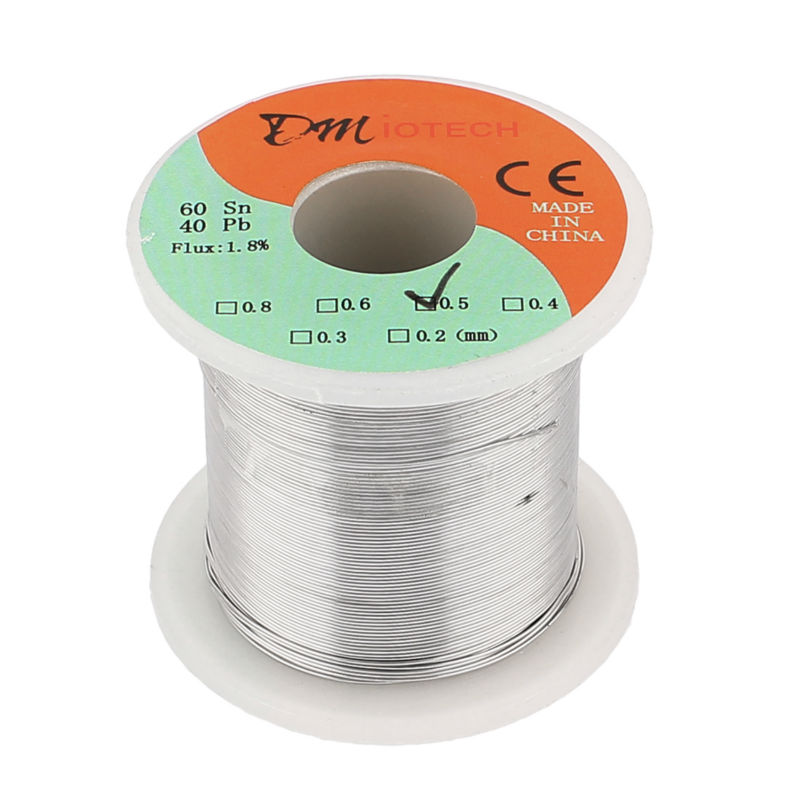 High Quality 60/40 0.5mm Rosin Core Solder Wire Reel 200g FLUX 1.8% Tin Lead Line Rosin Core Flux Solder Soldering Wire Roll 1mm 500g rosin core solder 60 40 tin lead 2 0% flux soldering welding iron wire