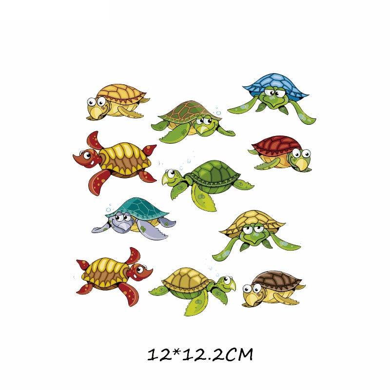 Набор патчей с изображением животных из мультфильмов, милые патчи с изображением единорога, кошки, совы, собаки, цветов для детей, одежда для девочек, футболка, сделай сам, термопресс - Цвет: 548