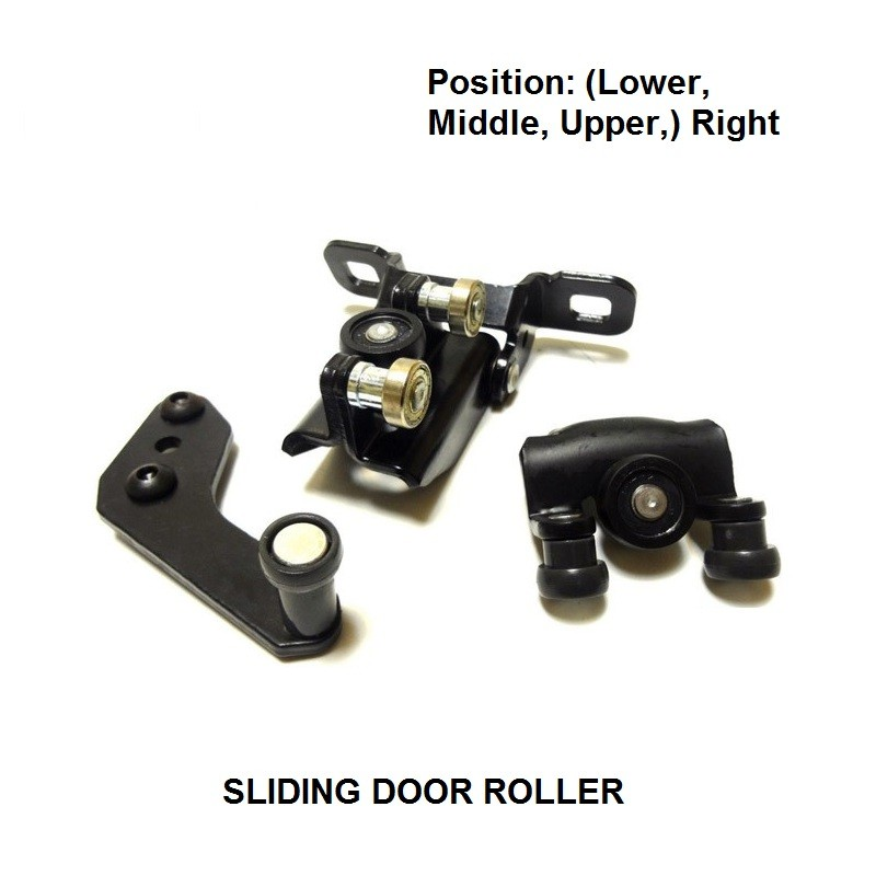 x3 PIECES FOR FORD TRANSIT 2000-2006 SLIDING DOOR ROLLER GUIDE SET RIGHT (Lower, Middle & Upper) COMPLETE SET NEW ...
