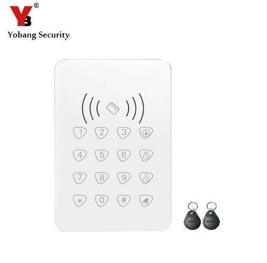 Yobang Security Wireless RFID Keypad Security Proximity Door Entry Access Control Alarm Systems+2 RFID Tags For WIFI GSM Alarm