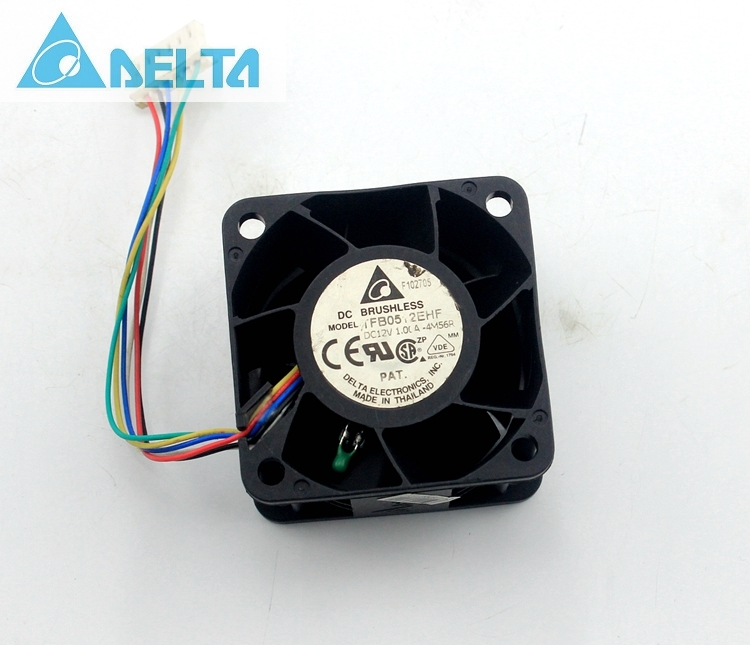 Delta TFB0512EHF 5032 5cm violent 12V 1.00A temperature control sensor pwm axial cooling fan delta afb1212hhe 12038 12cm 120 120 38mm 4 line pwm intelligent temperature control 12v 0 7a