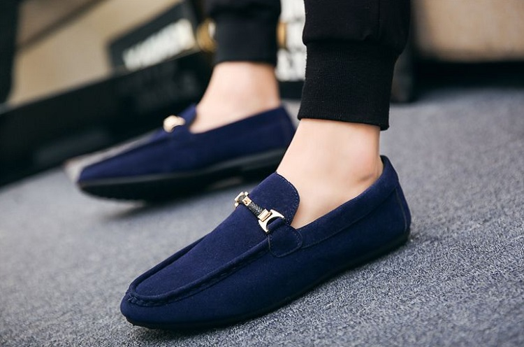 Flock Summer Shoes Men Casual Fashion Slip on Breathable Solid Flat Male Rubber Outdoor Footwear Lightweight Loafers Boat Shoes (15)