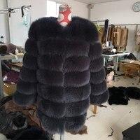 100% натуральное меховое пальто из норки Зимняя меховая куртка с натуральным мехом Бесплатная доставка