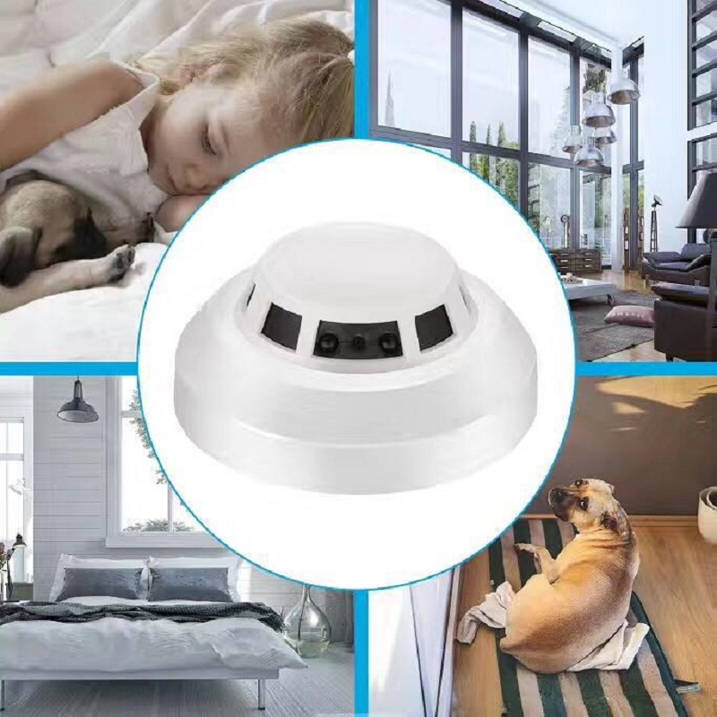 Night Vision Smoke Alarm Sensor IP NETWORK WIFI SECURITY CCTV CAMERA IR-CUT SECURITY HOME SECURITY SD H.264 support 32gb