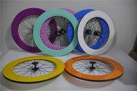 1 쌍 새로운 색상 700c 88mm 클린져 림 트랙 레이싱 고정 기어 자전거 전체 탄소 자전거 wheelsets 20.5 23 25mm 너비 무료 배송