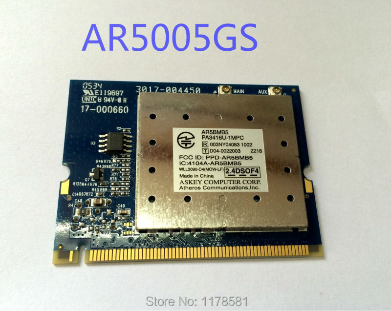 New Wireless Card  AR5005G AR5BMB5 AR5005GS Mini PCI 54Mbps 802.11bg WIFI CARD