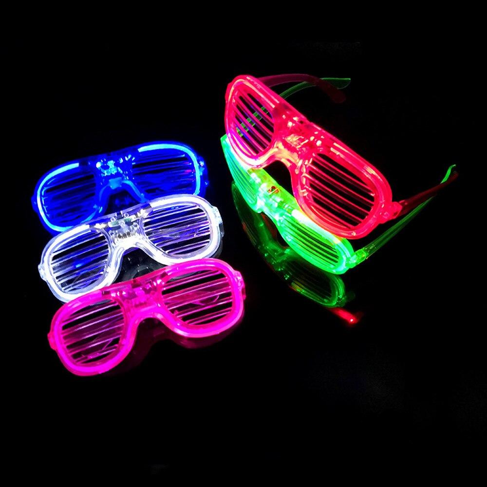 LED Flashing Light-Up Glow Blinking Party Glasses Space Design *Blue* SG-UK