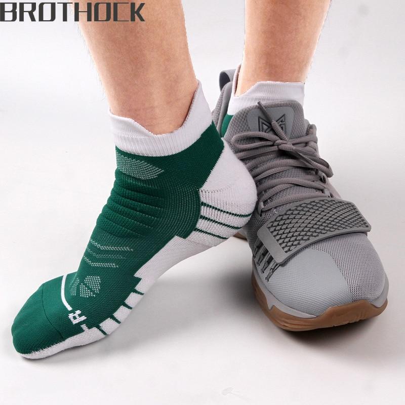 Brothock Stars Boat Socks Professional Men Basketball Socks Quick Drying Breathable Summer Towel Thickening Elite Sport Socks