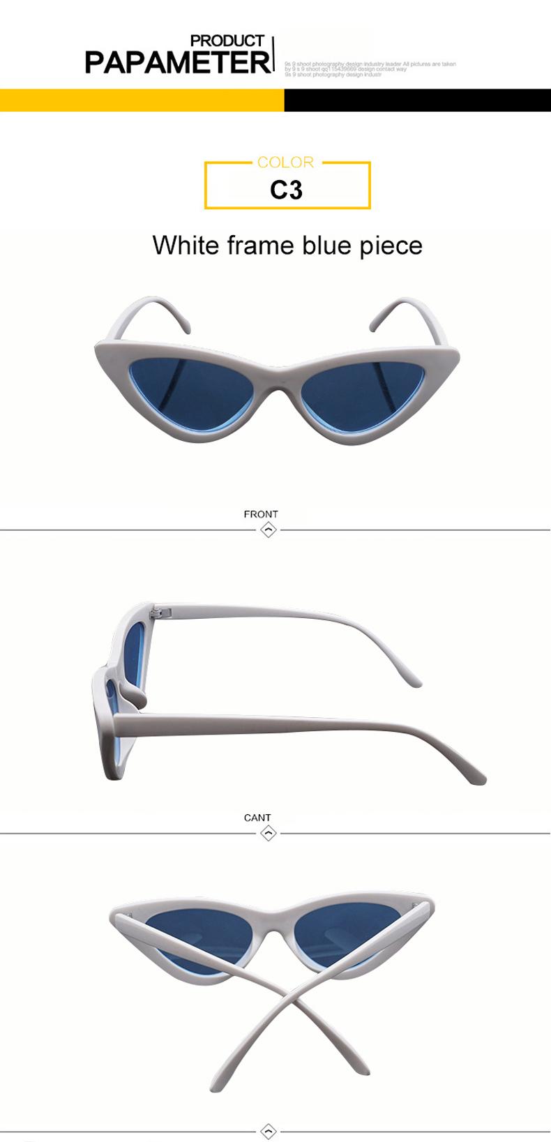 HTB1c81SjzqhSKJjSspnq6A79XXaj - WHO CUTIE 2018 Brand Designer Black Cat Eye Sunglasses Women Cool Small Cateye Frame Sun Glasses Fashion UV400 Shades WG-008