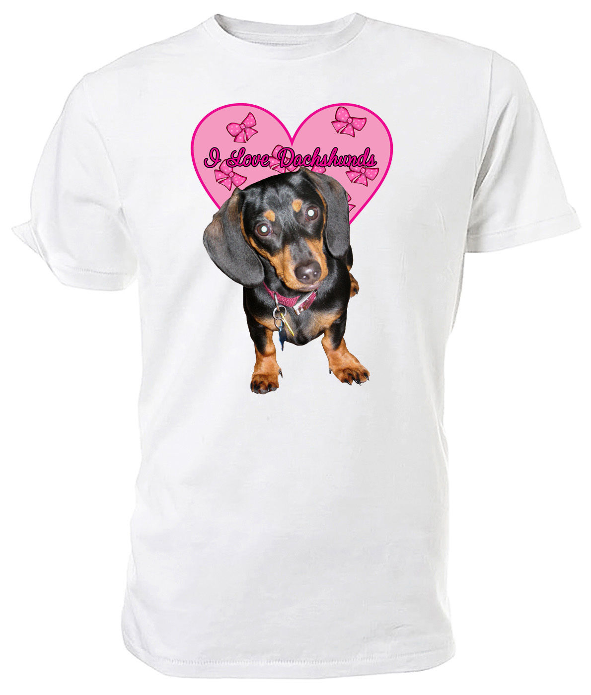 Dachshund Dog, I Love Dachshunds T shirt - Choice of size & colours!