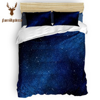 Family Decor Star Galaxy Bedding Sets Duvet Set Covers St. Patrick's Day Duvet Cover Sets Mother's Day Living Room Microfiber
