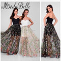 Robe Arabe 2017 Sweetheart Sexy Floral Prom Dress Black Fast Shipping Vestidos De Graduacion Embroidered Exquisite Evening Gowns