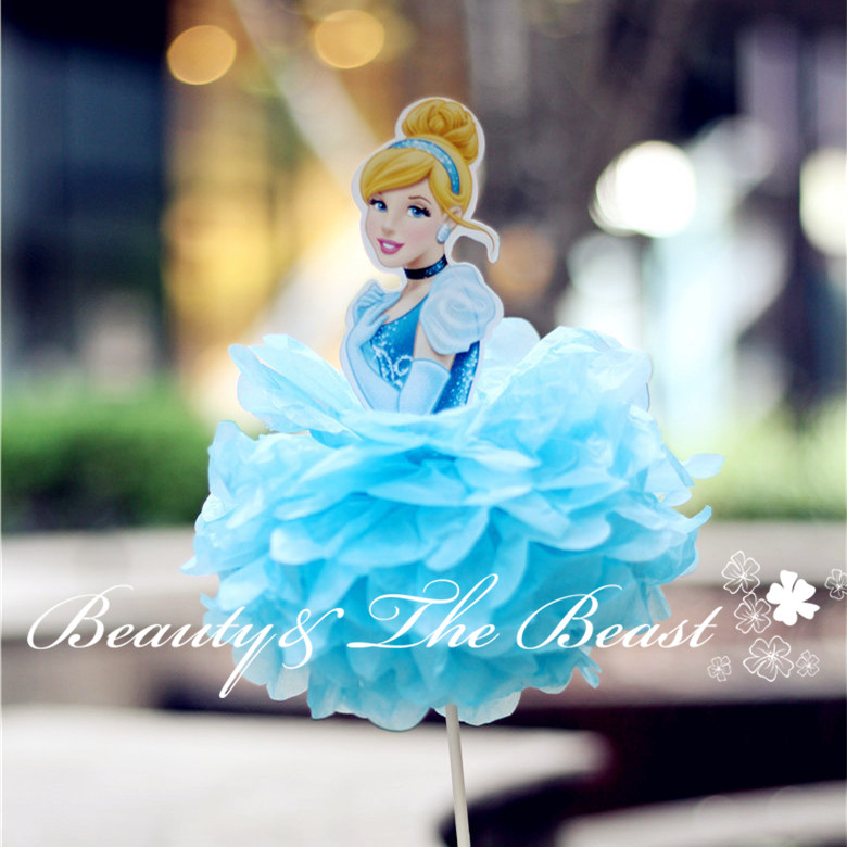 12High Princess Cinderella Cake Toppers Cake Accessory Cake Table Party Supplies Birthday