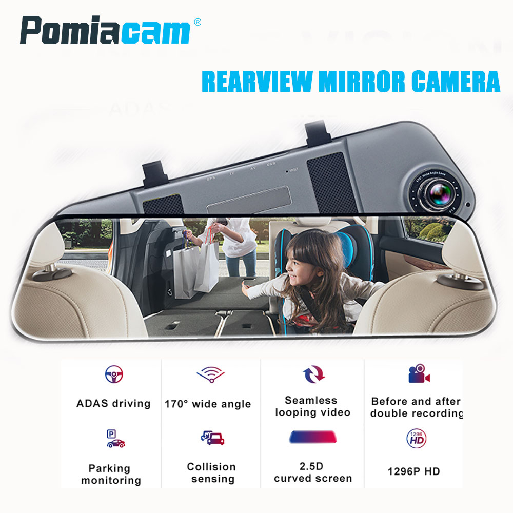 E5 Rearview Mirror Car DVR Stream Rear View Mirror dash Camera 5inch IPS Touch Screen Full HD 1080P Car Recorder dash camera