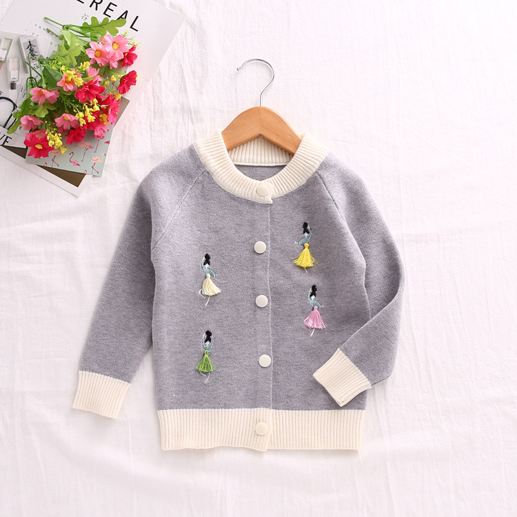 4fb9742ef65c New Fall Winter Clothing Kids Girls Dancing Girl Knitted Sweater ...