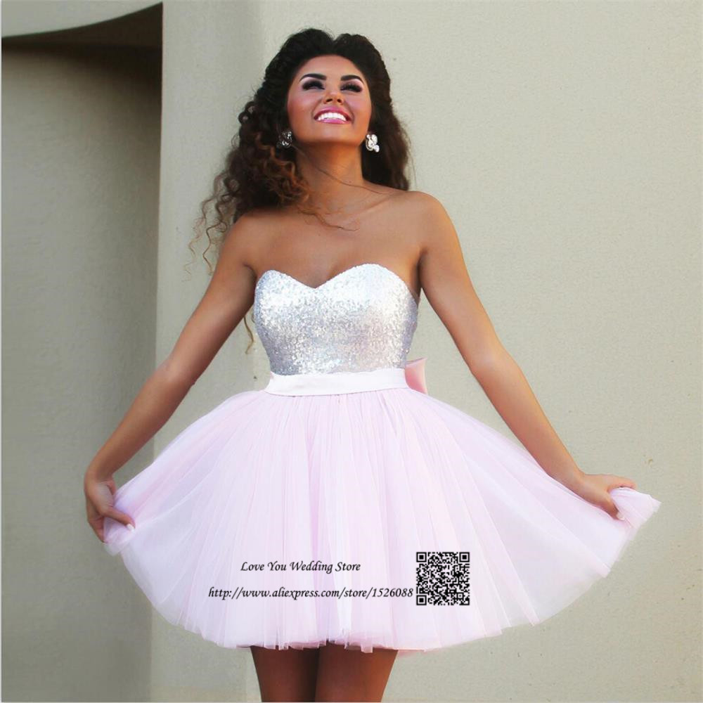 Light Pink Short Prom Dresses