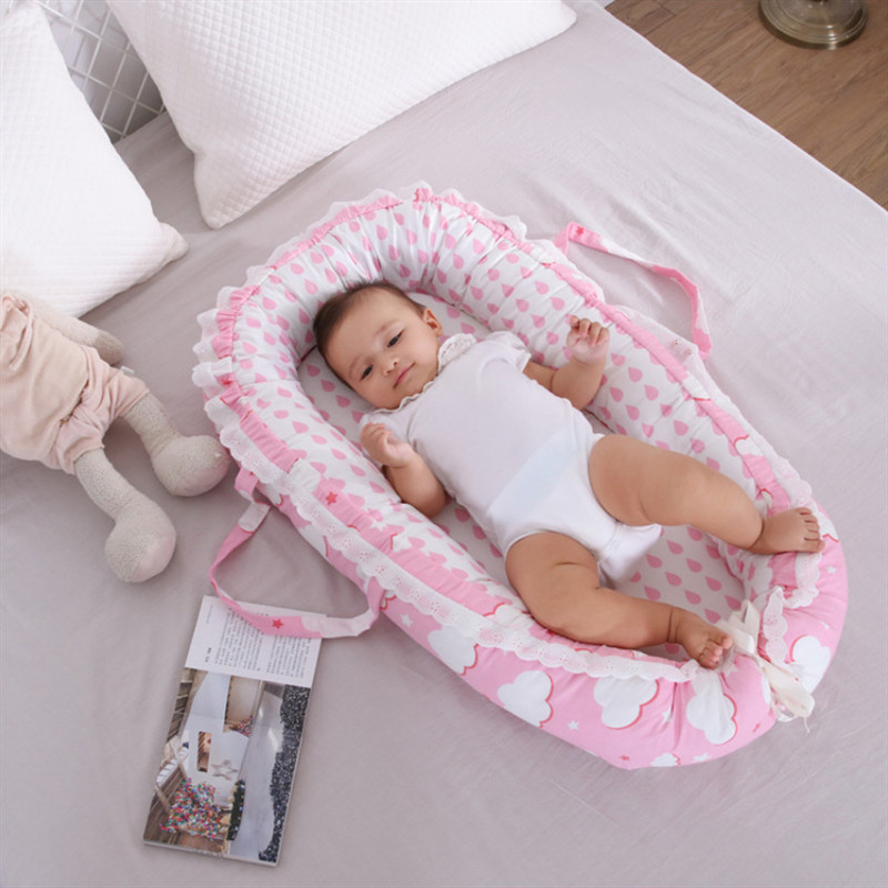 Baby Nest Bed Baby Crib Washable Travel Bed Crib For Newborn Infant Cotton Cot Bumper Cradle Dropshipping